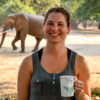 Zimbabwe travel blogger with elephant