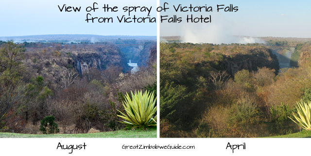 Vic Falls spray seasons