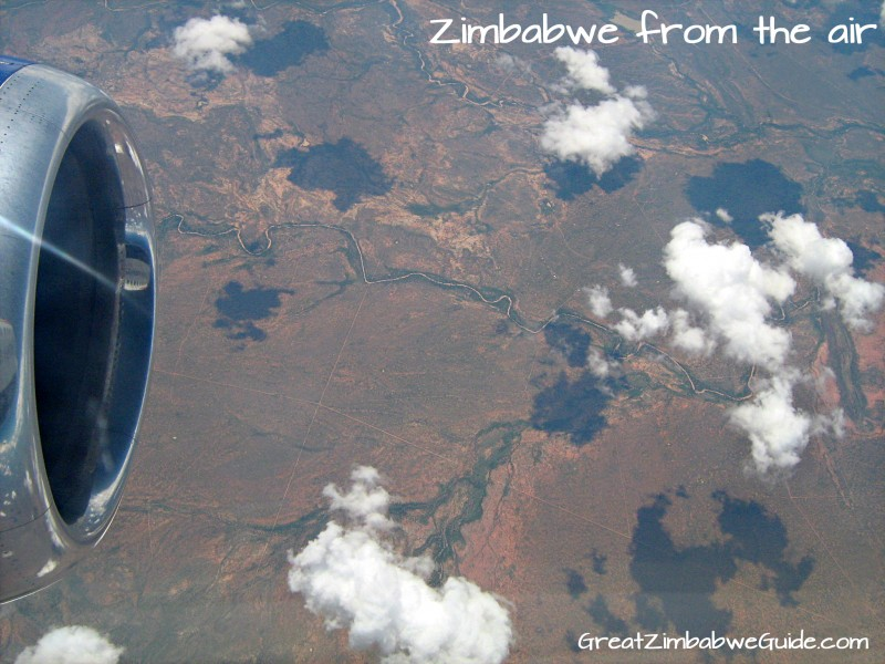 Zim view from air - from Great Zimbabwe Guide