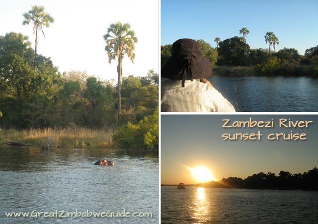 Zambezi River sunset booze cruise great zimbabwe guide