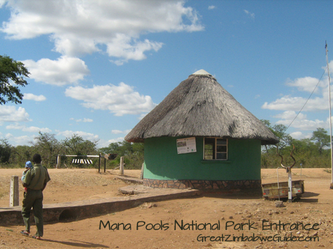 Mana Pools entrance