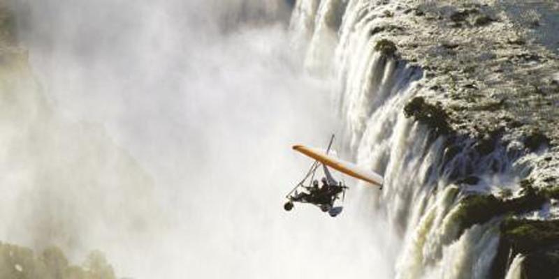 vic-microlight flight over fall short
