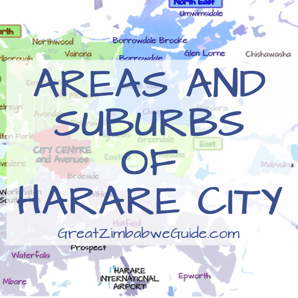 Zimbabwe Harare areas and suburbs