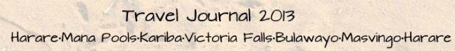 Travel journal 2013