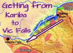 Map Kariba Ferries