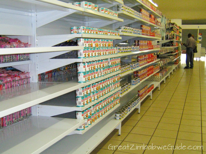 Great Zimbabwe Guide 2008 shop shortages