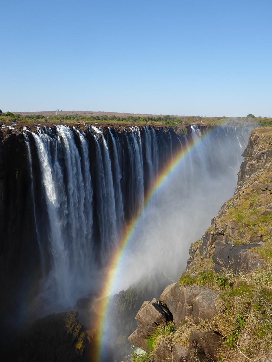 Victoria Falls rainbow view Zimbabwe Africa