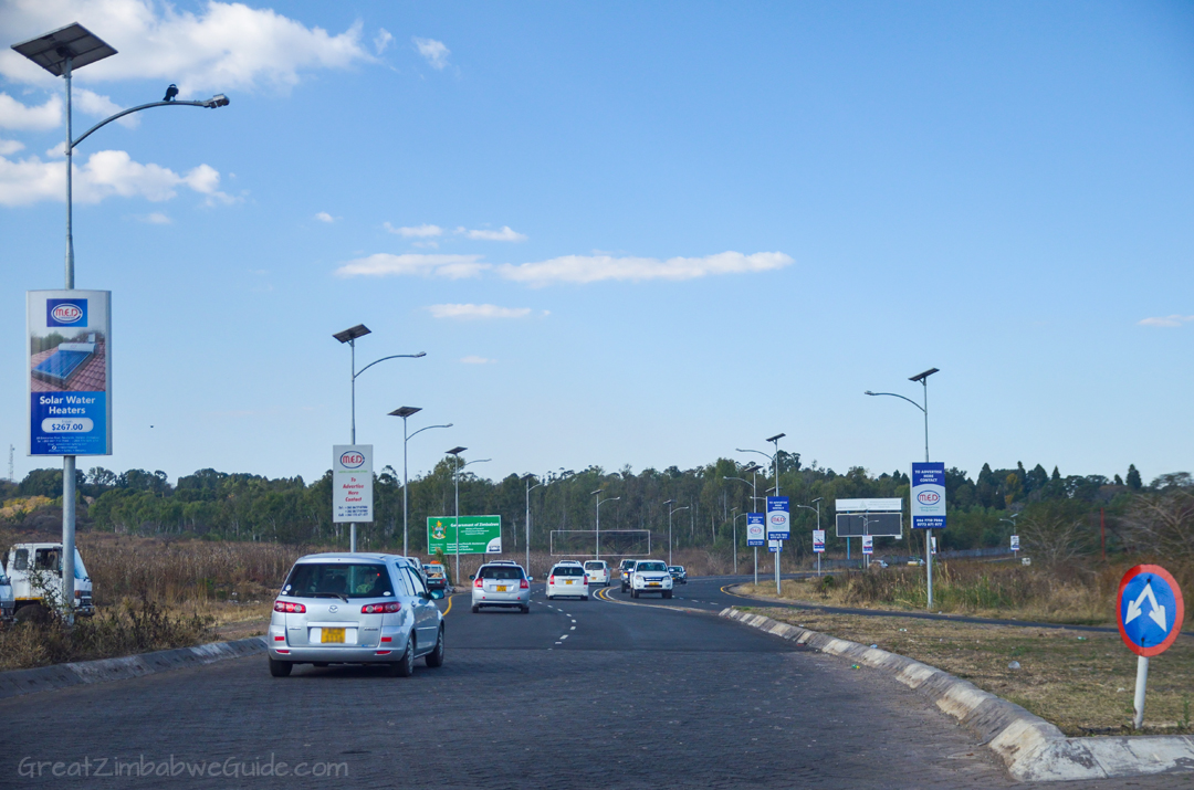 Harare Road GreatZimbabweGuide Signs Churchill